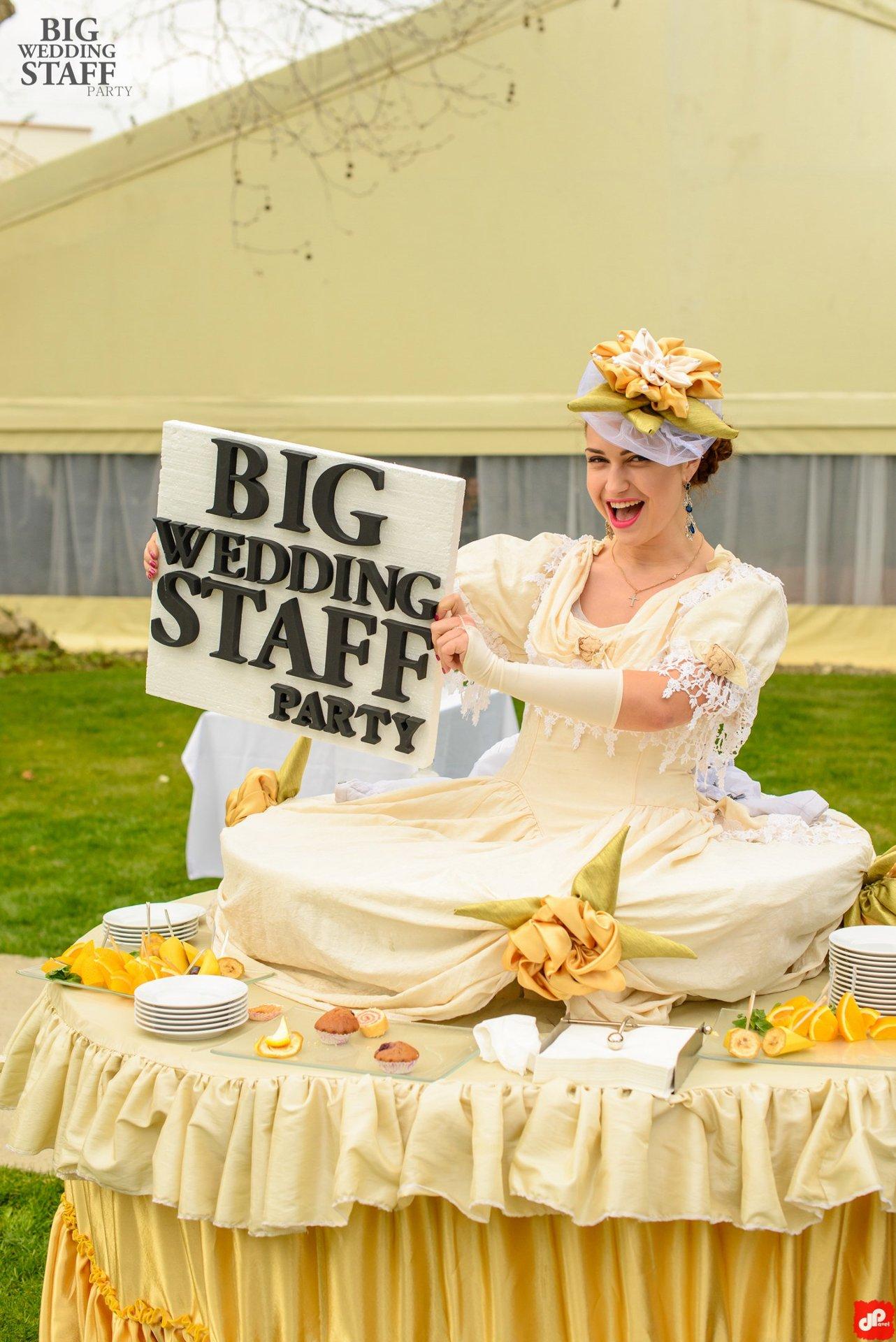 Staff for wedding