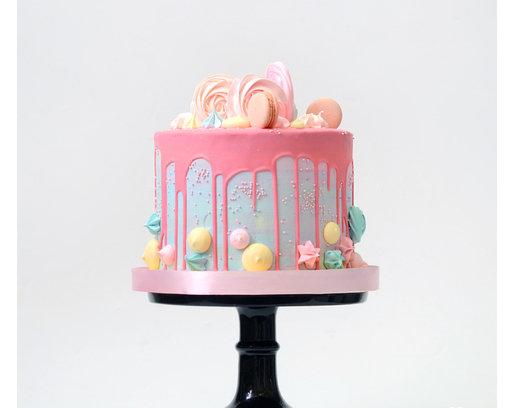 Торт без мастики с безе