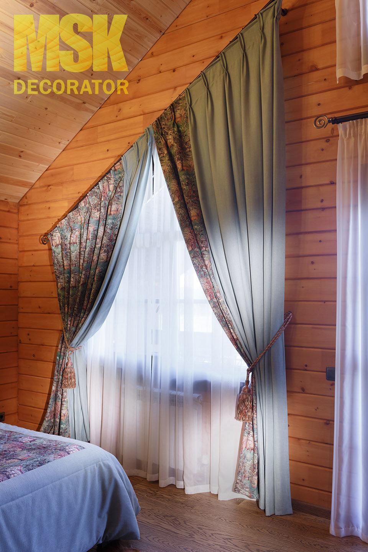 Шторы на мансардные окна: оформление мансардного окна со