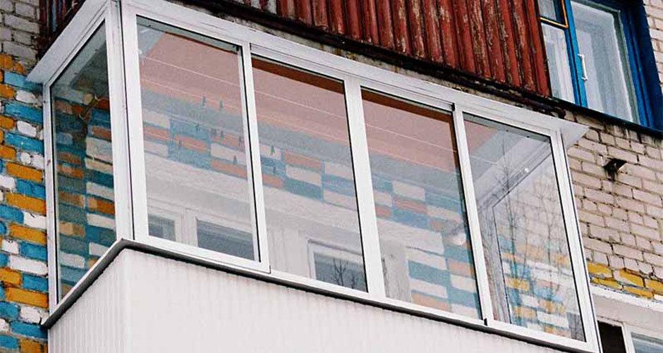 Остекление балконов и лоджий складывающиеся окна..